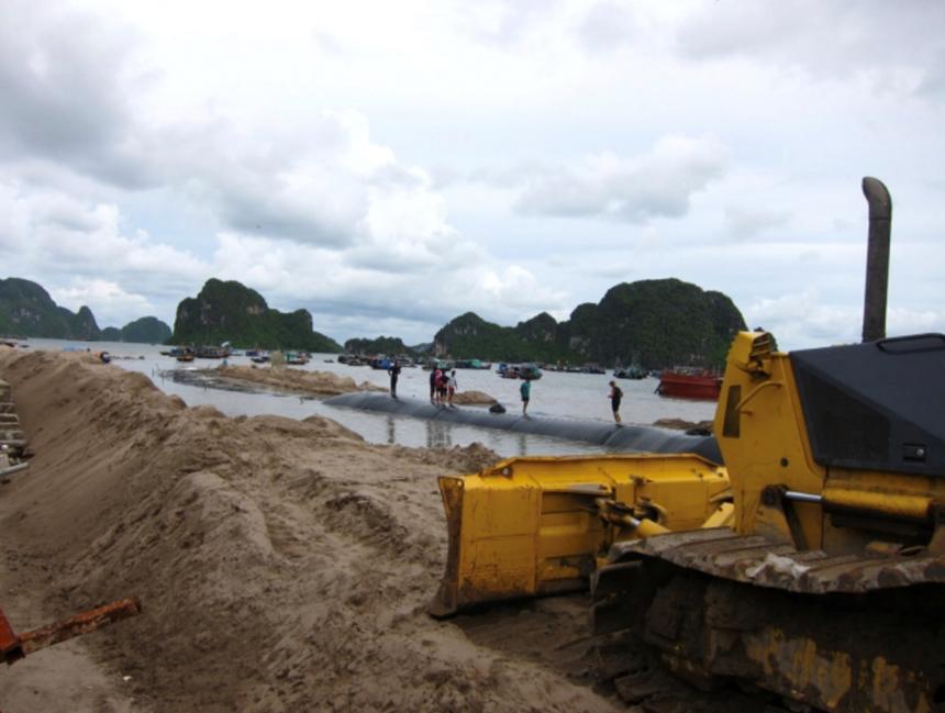 Lãnh đạo TP Hạ Long nói gì về vụ dùng cát lậu san lấp dự án đường bao biển