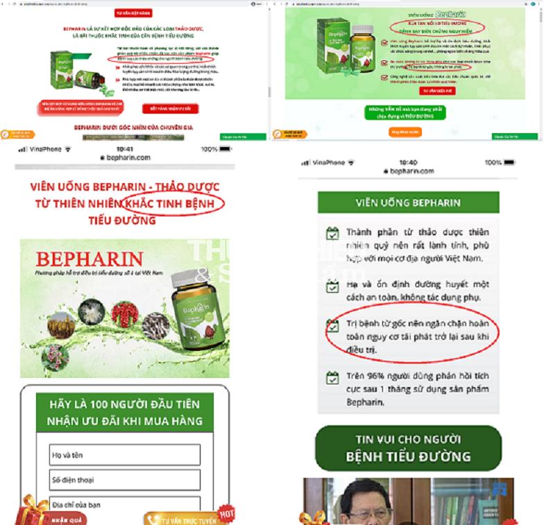 Khuyến cáo Người tiêu dùng cần thận trọng khi mua TPBVSK Bepharin