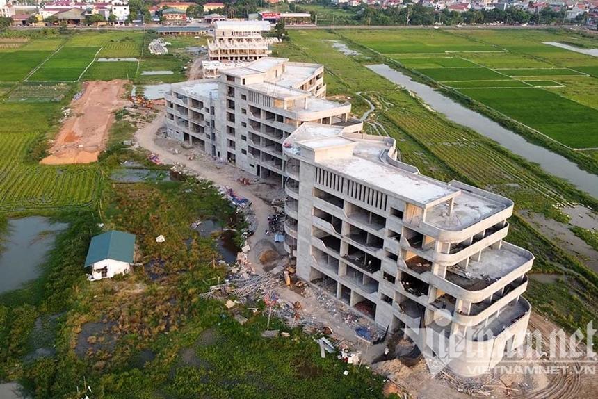 Vĩnh Phúc Dự án không phép chình ình mọc lên ngay cạnh trụ sở phường